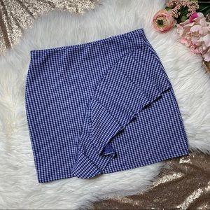 [Topshop] Checkered Ruffle Mini Skirt